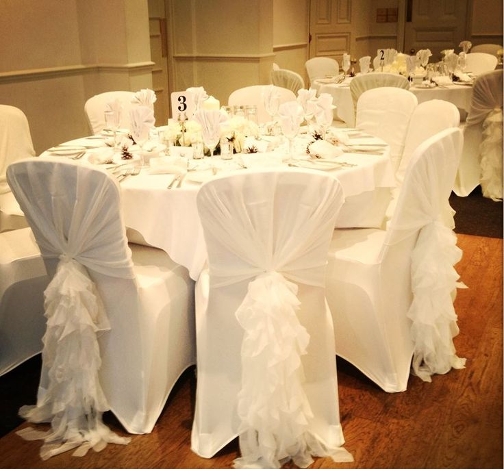 chair covers. chair covers. ruffle hood covers n
